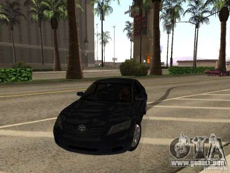 Toyota Camry 2010 para GTA San Andreas vista hacia atrás