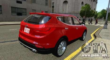 Hyundai Santa Fe Sport 2013 para GTA 4 Vista posterior izquierda