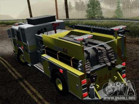 Seagrave Marauder II BCFD Engine 44 para GTA San Andreas vista hacia atrás