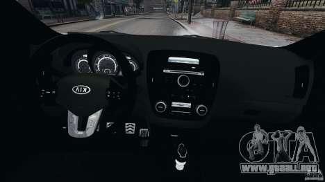 Kia Ceed 2011 para GTA 4 vista hacia atrás