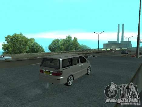 Toyota Alphard G Premium Taxi indonesia para GTA San Andreas vista posterior izquierda