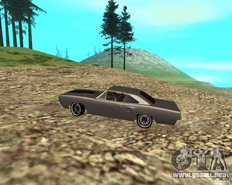 Plymouth Roadrunner 1970 para GTA San Andreas vista hacia atrás