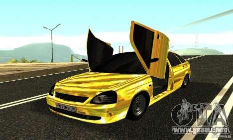 Lada Priora Gold para GTA San Andreas