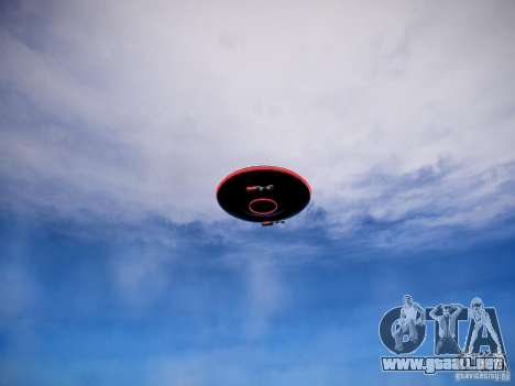 Lo que me asusta el UFO para GTA 4 Vista posterior izquierda