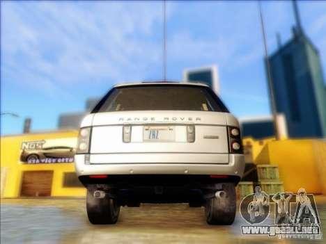 Land-Rover Range Rover Supercharged Series III para GTA San Andreas vista posterior izquierda