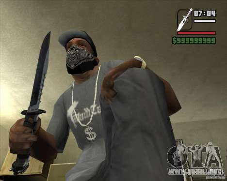 El cuchillo de Nº 4 de la acosadora para GTA San Andreas segunda pantalla