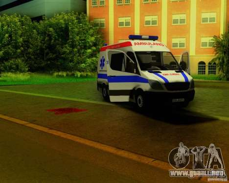 Mercedes-Benz Sprinter Baku Ambulans para vista lateral GTA San Andreas