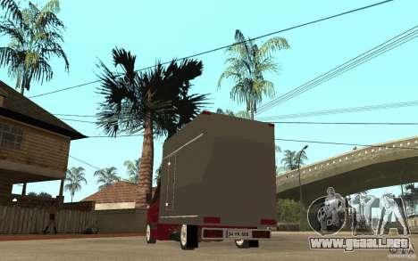 Volkswagen Crafter Case Closed para GTA San Andreas vista posterior izquierda