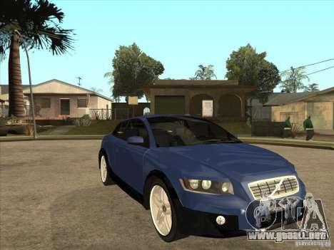 VOLVO C30 Sport 2009 para GTA San Andreas vista hacia atrás