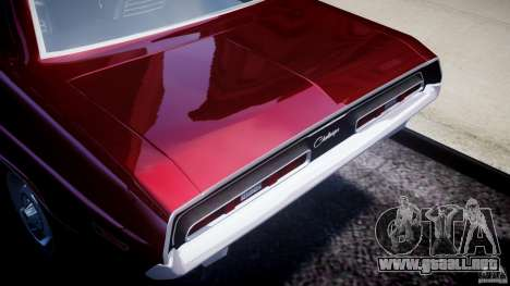 Dodge Challenger 1971 para GTA 4 vista hacia atrás