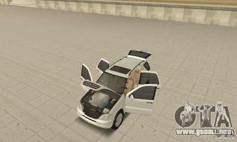Mercedes-Benz ML 430 para GTA San Andreas vista hacia atrás