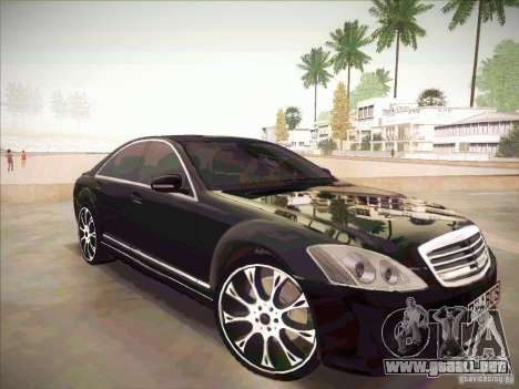Mercedes-Benz S 500 Brabus Tuning para la visión correcta GTA San Andreas