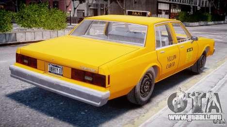 Chevrolet Impala Taxi 1983 para GTA 4 visión correcta