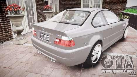 BMW M3 e46 v1.1 para GTA 4 vista lateral