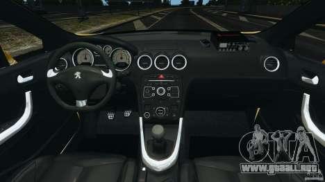 Peugeot 308 GTi 2011 Taxi v1.1 para GTA 4 vista hacia atrás