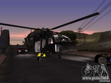 El helicóptero de CoD 4 MW para vista lateral GTA San Andreas