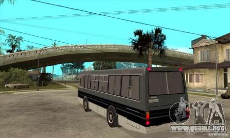 LAZ-4202 para GTA San Andreas vista posterior izquierda