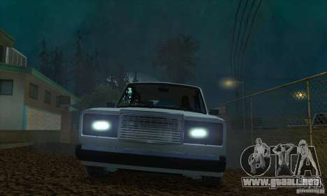 VAZ 2107 acuario para visión interna GTA San Andreas