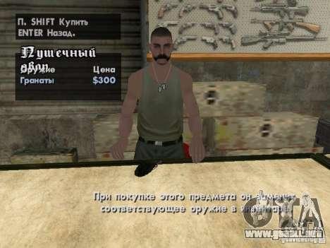 Armas Pak domésticos para GTA San Andreas novena de pantalla