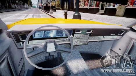 Chevrolet Impala Taxi 1983 [Final] para GTA 4 vista hacia atrás