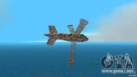 Conceptual Fighter Plane para GTA Vice City vista lateral izquierdo