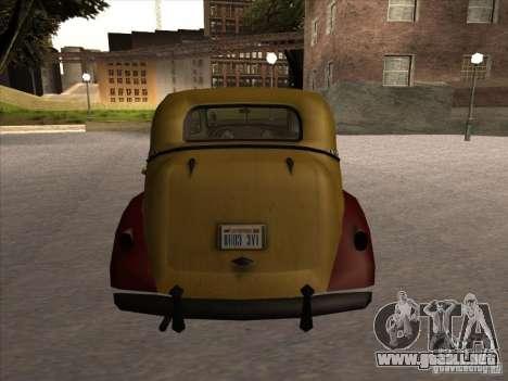 Shubert TAXI de MAFIA 2 para la visión correcta GTA San Andreas