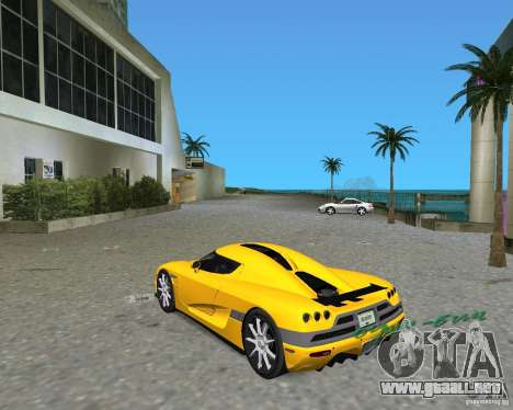 Koenigsegg CCX para GTA Vice City left