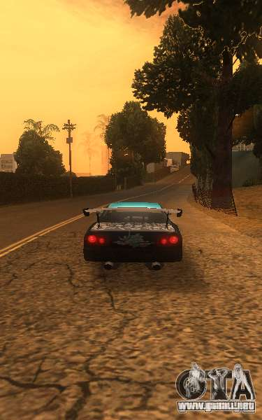 Elegía Nongrata by_k1x para GTA San Andreas vista posterior izquierda