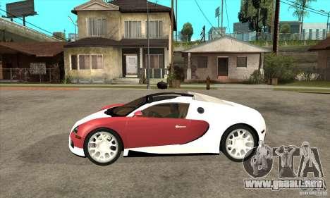 Bugatti Veyron Grand Sport para GTA San Andreas left