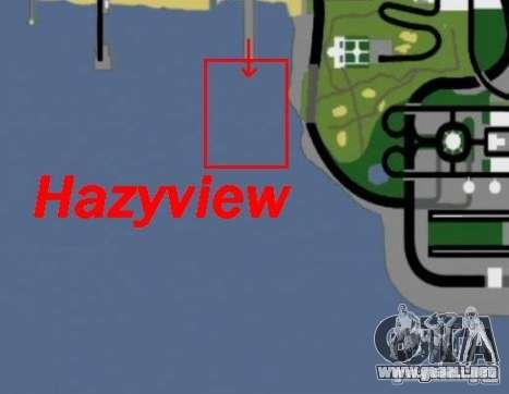 Hazyview para GTA San Andreas sucesivamente de pantalla