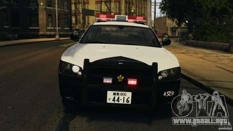 Dodge Charger Japanese Police [ELS] para GTA 4 vista lateral