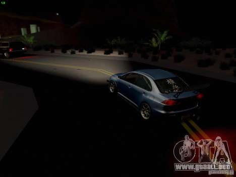 Mitsubishi Lancer Evolution X Time Attack para vista inferior GTA San Andreas