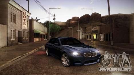 BMW M5 F10 para vista lateral GTA San Andreas