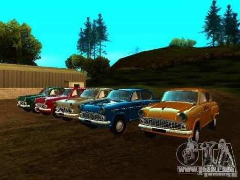 Taxi Moskvich 403 para GTA San Andreas vista hacia atrás