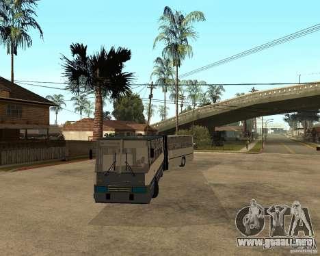 IKARUS 280 para GTA San Andreas vista hacia atrás