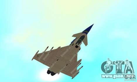 Eurofighter 2010 para vista lateral GTA San Andreas