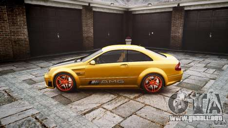 Mercedes Benz CLK63 AMG Black Series 2007 para GTA 4 left