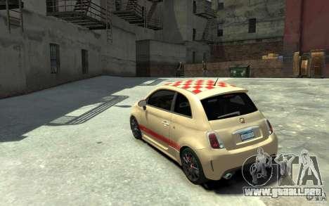 Fiat 500 Abarth Esseesse V1.0 para GTA 4 Vista posterior izquierda