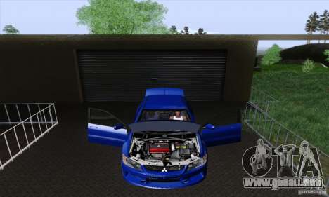 Mitsubishi Lancer Evolution 9 MR Edition para visión interna GTA San Andreas