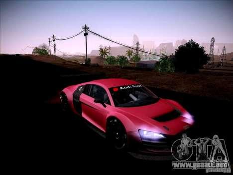 Audi R8 LMS v2.0 para visión interna GTA San Andreas