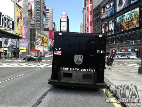 SWAT - NYPD Enforcer V1.1 para GTA 4 Vista posterior izquierda
