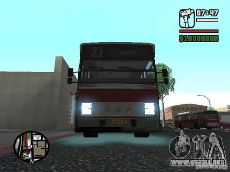 DAF CSA 1 City Bus para GTA San Andreas left