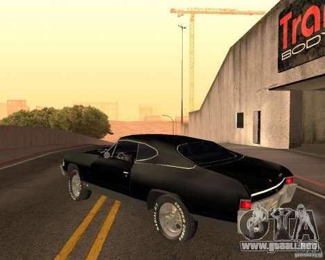 Chevrolet Chevelle 1968 para visión interna GTA San Andreas