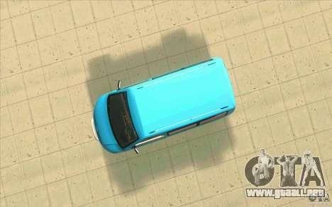 Volkswagen Caravelle para GTA San Andreas vista hacia atrás