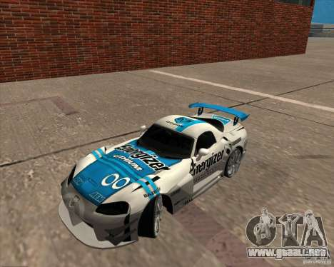 Dodge Viper Energizer para GTA San Andreas vista posterior izquierda