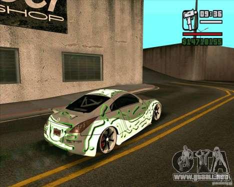 Nissan 350Z Pro Street para GTA San Andreas left