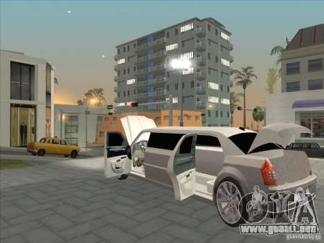 Chrysler 300C Limo para vista lateral GTA San Andreas