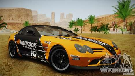 Mercedes SLR McLaren 722 Edition Final para la vista superior GTA San Andreas