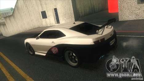 Chevrolet Camaro SS Dr Pepper Edition para GTA San Andreas interior