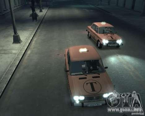 Taxi 2106 VAZ para GTA 4 vista superior